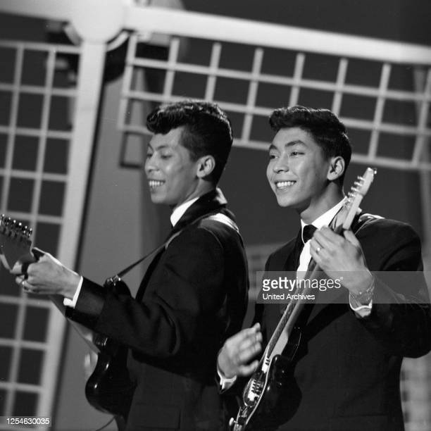 Musik aus Studio B, Musiksendung, Deutschland 1963, Gaststar: das niederländische DooWop Duo Blue Diamonds.