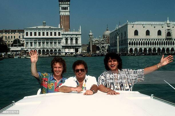 Musikgruppe Die Flippers Bernd Hengst Manfred Durban Olaf Malolepski vor Dogenplast ZDFSpecial Liebe ist mein erster Gedanke am Venedig Italien