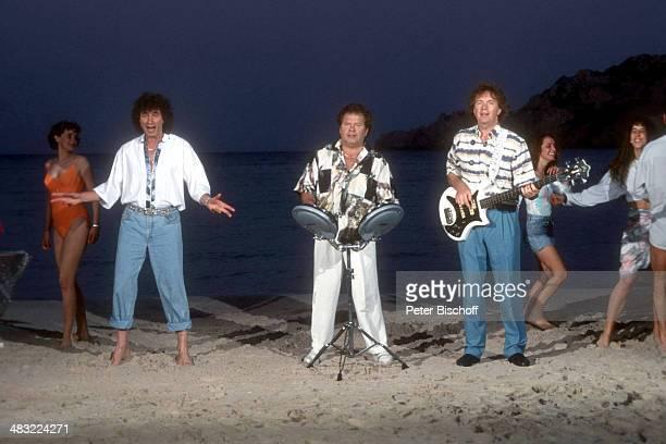 Musikgruppe Die Flippers Olaf Malolepski Manfred Durban Bernd Hengst 1 ZDFTVSpecial Die Flippers auf Mallorca zum 25jährigen Jubiläum am Insel...