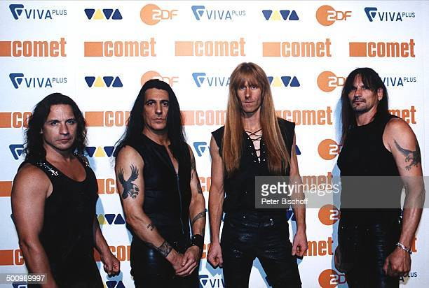 Musikgruppe 'Manowar' Verleihung Musikpreis 'Comet 2002' 'Comet'GalaMusikmesse 'PopKomm' Köln 16802 100225 Promi PNr 748/2002