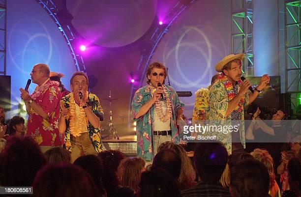 Musikgruppe 'Saragossa Band' Wolfgang Gleixner Andy Bielan Jutta Niedhardt Evert van der Waal Alfred Rudek Harry Karrer ARDMusikshow 'Das Festival...