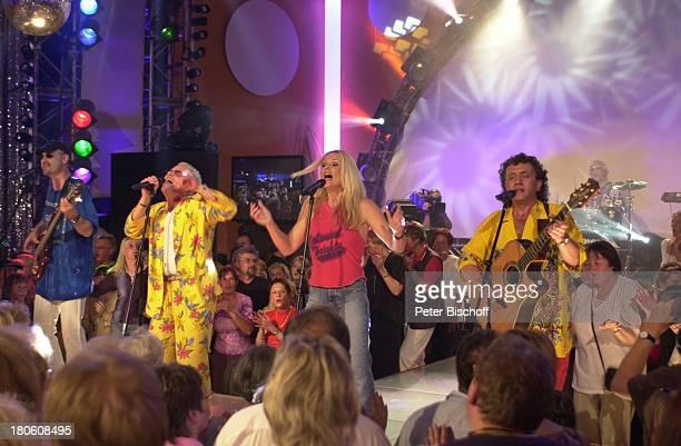 Musikgruppe 'Saragossa Band' Wolfgang Gleixner Andy Bielan Jutta Niedhardt Alfred Rudek ARDMusikshow 'Das Festival des deutschen Schlagers' Aladin...
