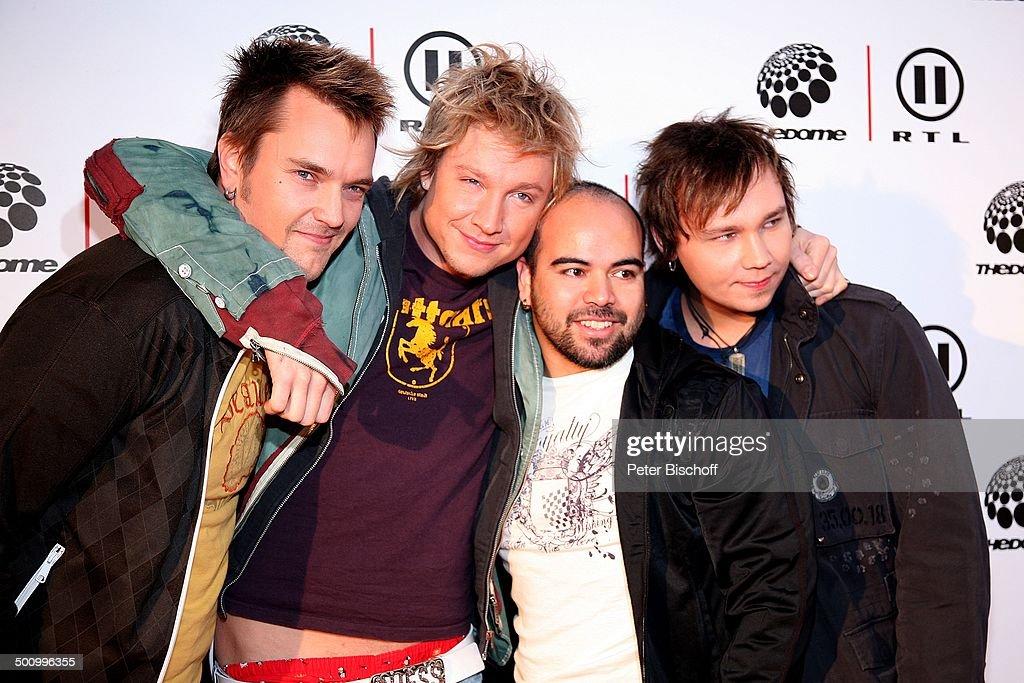 Musikgruppe 'Sunrise Avenue', RTL II-Musikshow 'The Dome 40', Jubiläumsshow, 10 Jahre 'The Dome' und 40.Sendung, Düsseldorf, Deutschland, 01.12.2006, : Nachrichtenfoto