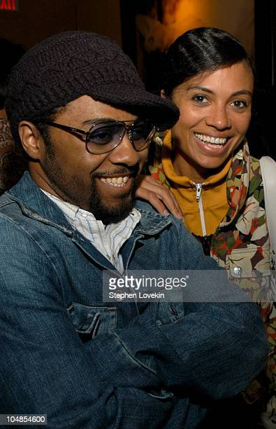 Musiq and Amel Larrieux during CocaCola Celebrates Nu Classic Soul Ad Campaign at Eugene in New York City NY United States