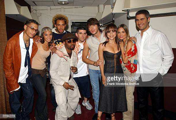 Musiq Joshua Rachel and Je'Kob Washington and DJ David McKee of Souljahz Jorge Moreno Rosie Perez Nicole and Alessandro Safina backstage at the 7...