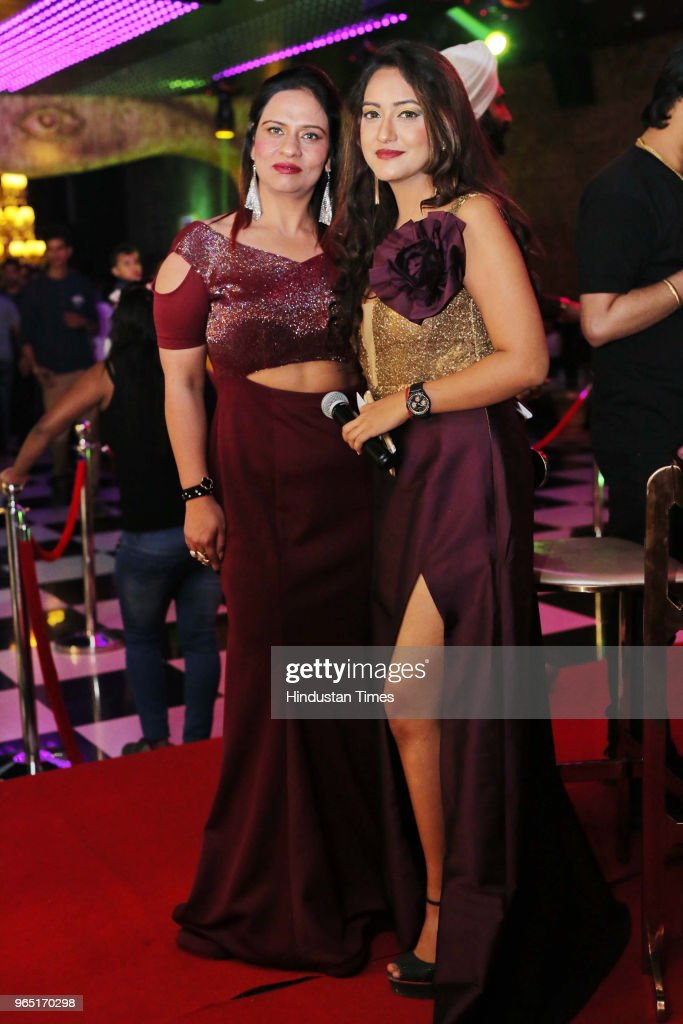 Muskaan Seema Narand and Sahiba during the promotion of upcoming Punjabi movie Carry On Jatta 2 at The Theatre Club Lounge Paschim Vihar on May 27...