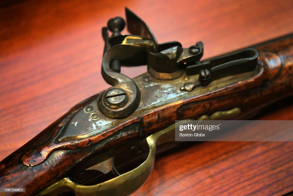 A musket captured from a Hessian soldier in the