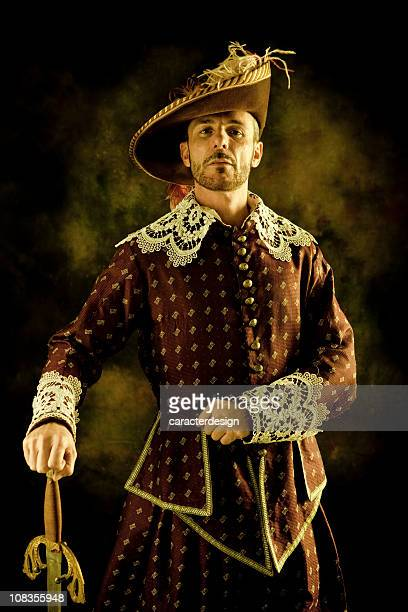 musketeer's pride - period costume stock pictures, royalty-free photos & images