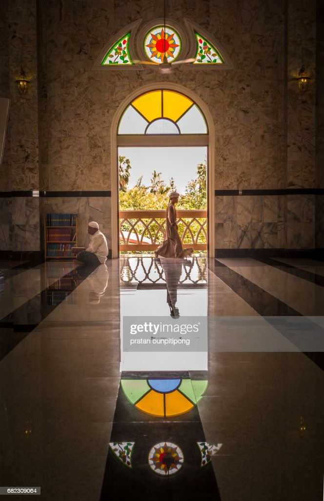 Muslim at the mosque : Stock Photo