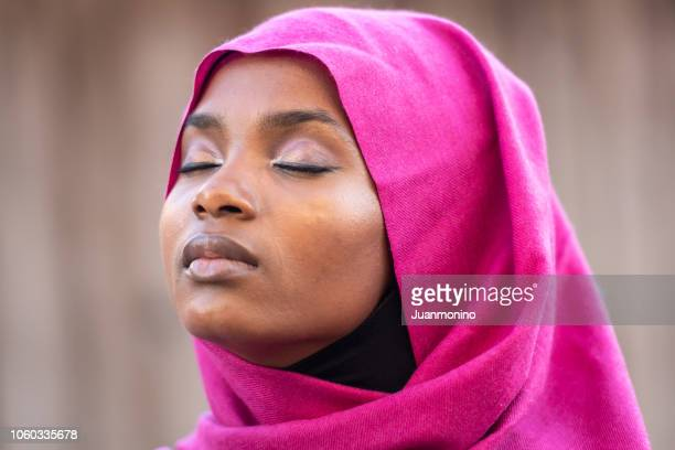 Muslim black young woman