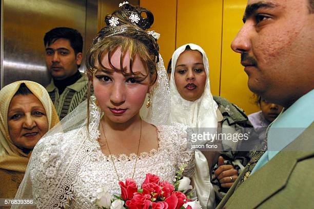 A Muslim bride and her groom at Le Palestine Hotel in Baghdad on their wedding night Monday and Thursday nights have been traditionally reserved for...