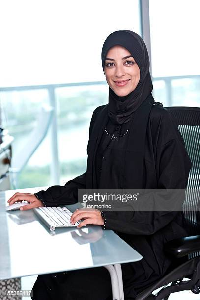 muslim businesswoman - syrian culture stock photos and pictures