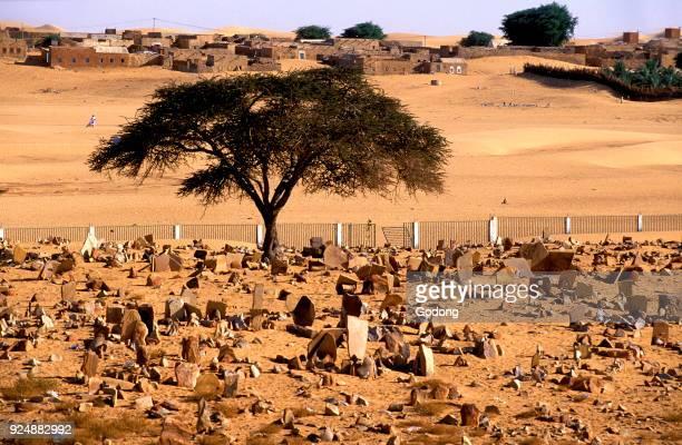 Muslim cemetery in Chinguetti Mauritania