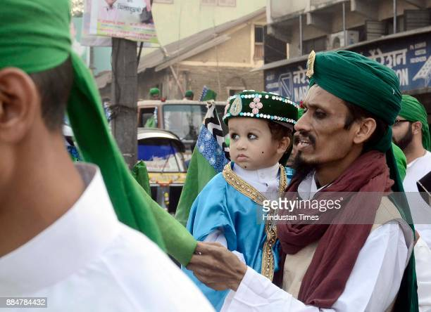 Muslim children take part in a procession during Eid MiladUnNabi the birth anniversary of Prophet Muhammad the founder of Islam also believed to be a...