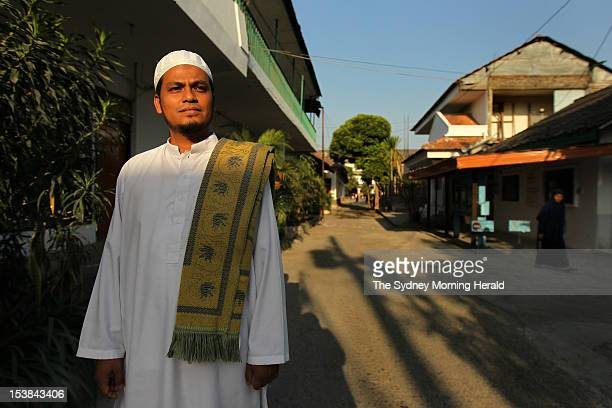 Muslim cleric Abdulrohim teaches at the Al Mukmin School in Solo Central Java Indonesia September 14 2012 The school was founded by his father the...