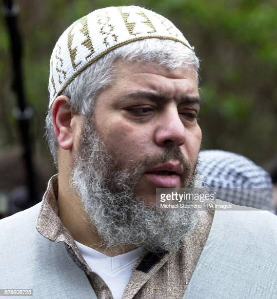 Muslim cleric Abu Hamza outside Finsbury Park Mosque where he was banned from speaking by the Charity Commission The cleric was accused of abusing...