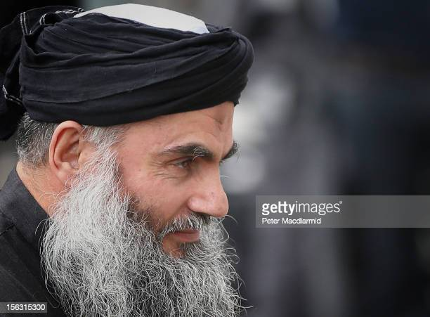 Muslim Cleric Abu Qatada arrives home after being released from prison on November 13 2012 in London England Abu Qatada was released on bail having...