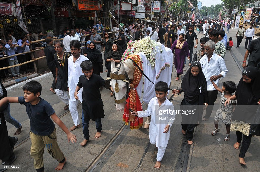 Muslim devotees on the Maharam festival in the eastern Indian city