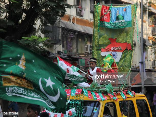 Muslim devotees participated at a rally to celebrate EidMiladUnNabi or Mawlid which is celebrated every year as Prophet Muhammad's birthday on...