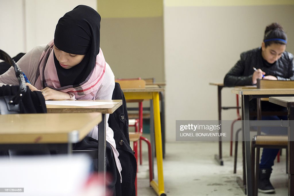 FRANCE-EDUCATION-MUSLIM : News Photo