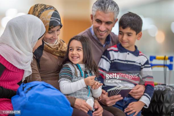 muslim family - islam stock pictures, royalty-free photos & images