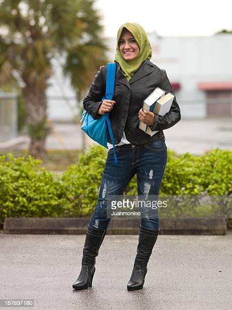 muslim female college student - iranian culture stock photos and pictures