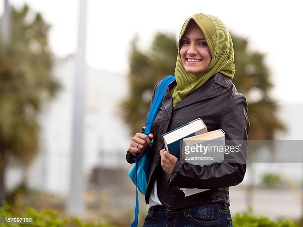 Muslim female college student