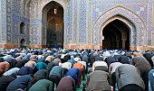 Muslim Friday mass prayer in Iran