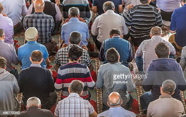 muslim friday mass prayer in turkey - friday stock pictures, royalty-free photos & images