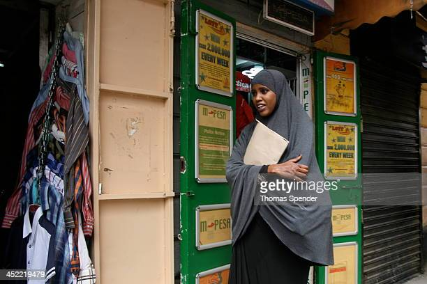 Muslim girl wearing a hijab in Nairobi's Central Business District