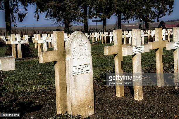 Muslim grave in the french cemetery of Malmaison The chemin des dames is located between Soissons Laon and Reims It is in this place took place in...