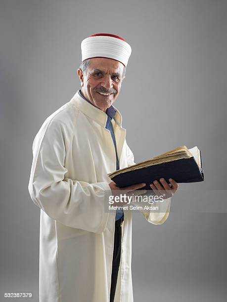 muslim imam portrait - imam stock photos and pictures