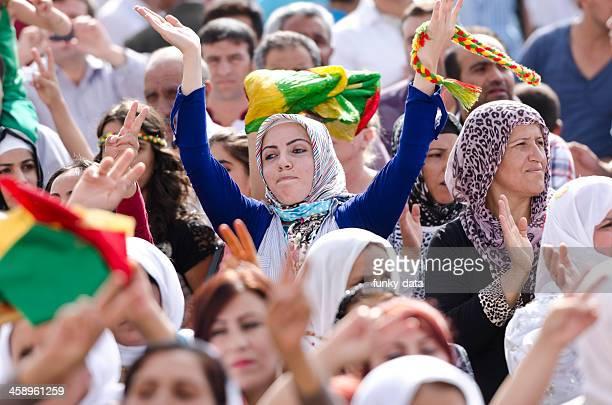 muslim kurdish female protestor - democracy stock pictures, royalty-free photos & images