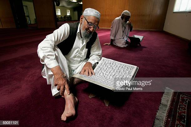 Muslim man attends afternoon Friday prayers at the Muslim Mosque on June 10 2005 in Lodi California Lodi the sleepy Northern California town has been...