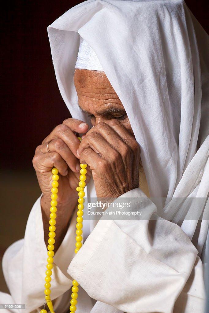 Muslim man offering Namaz : Stock Photo