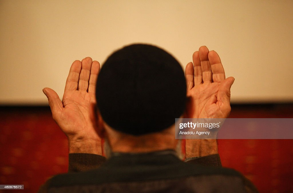 A Muslim man prays during the ceremony marking the 1444th anniversary of the birthday of Prophet Mohammad, Mawlid al Nabi, at Great Mosque of Diyarbakir (Ulu Mosque), Turkey on January 02, 2014.