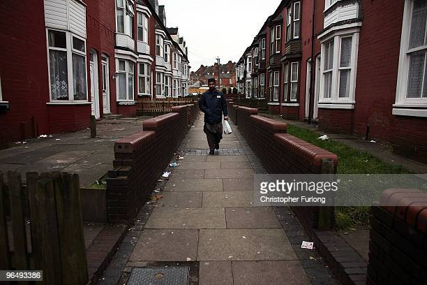 A muslim man walks through the streets of Birmingham's Spark Hill area on January 27 2010 in Birmingham United Kingdom As the UK gears up for one of...