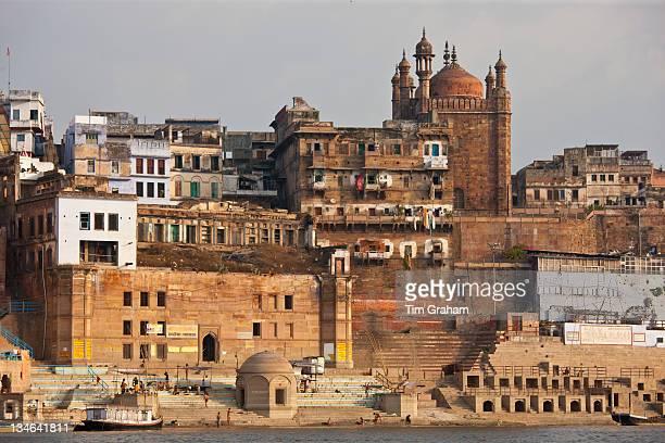 Muslim Mosque, Beni Madhaw Kadharara at Panch Ganga Ghat by The Ganges River in Holy City of Varanasi, India