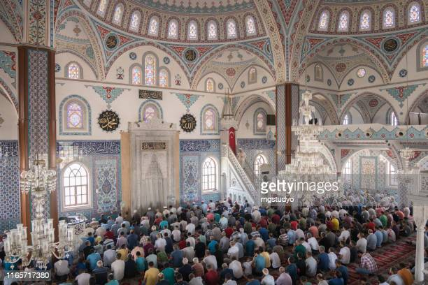 muslim people friday prayer in turkey - friday stock pictures, royalty-free photos & images