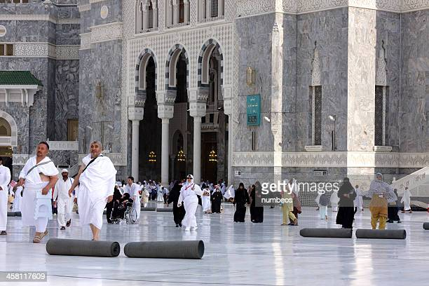 Muslim pilgrims at the Masjid al-Haram, Mecca, Saudi Arabia
