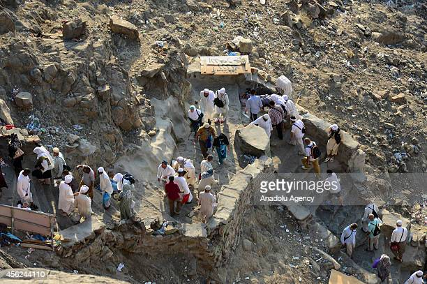 Muslim pilgrims climb al Nour mountain to visit the Hira cave where Prophet Muhammad received the first revelation of the Quran on September 28 2014...