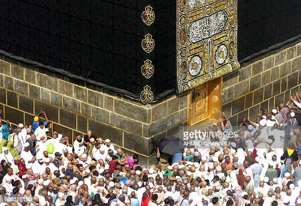 TOPSHOT Muslim pilgrims from all around the world circle around the Kaaba at the Grand Mosque in the Saudi city of Mecca on September 14 2016 More...