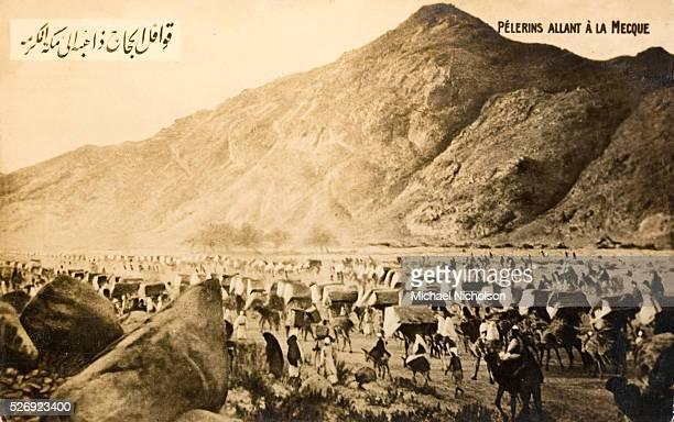 Muslim pilgrims undertake The Hajj the pilgrimage to Mecca