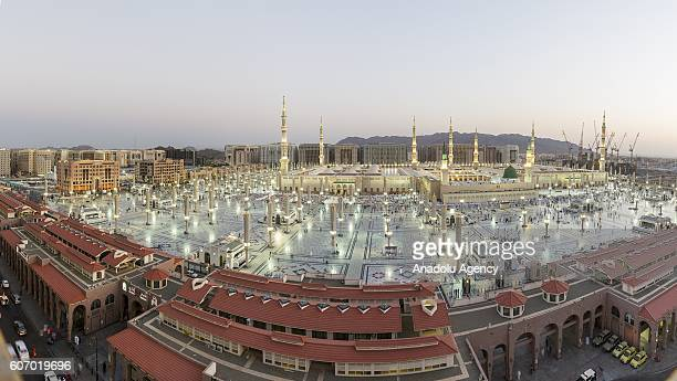 Muslim pilgrims visit the Masjid alNabawi where the tomb of Prophet Mohammad is located after after they accomplished their hajj pilgrimage in Medina...
