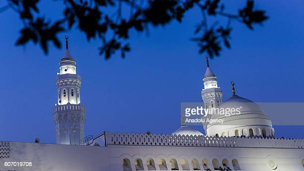 Muslim pilgrims visit the Quba Mosque after their duty of pilgrimage in Medina Saudi Arabia on September 17 2016