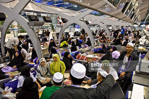 Muslim pilgrims who were trying to depart on the Haj spent five days trapped inside the Suvarnabhumi airport international terminal before being...