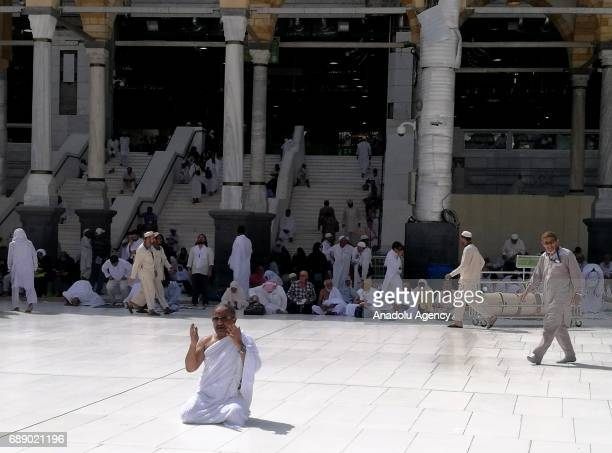 Muslim prays during first day of the Islamic holy month of Ramadan at Masjid alHaram in Mecca Saudi Arabia on May 27 2017