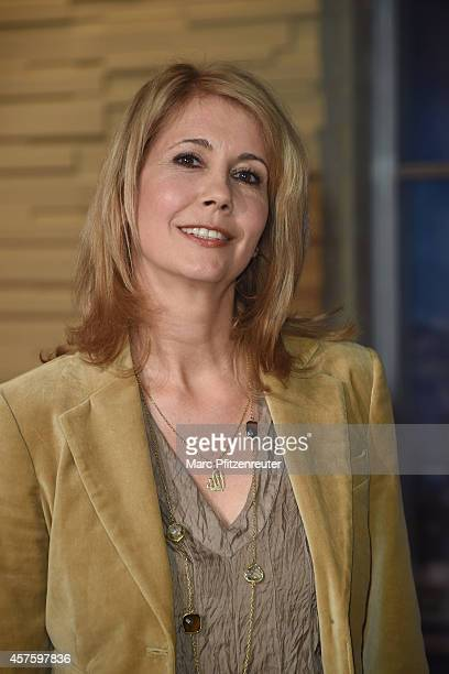 Muslim presenter Kristiane Backer attends the 'Menschen bei Maischberger' TV Show at the WDR Studio on October 21 2014 in Cologne Germany