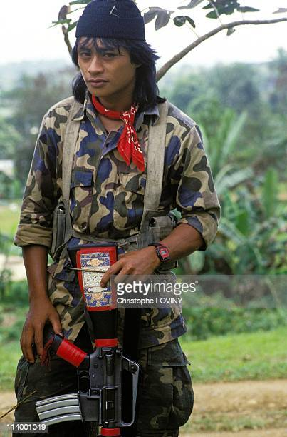 Muslim rebels in Jolo and Zamboanga In PhilippinesAbu Sayyaf muslim guerilla fighter in Jolo