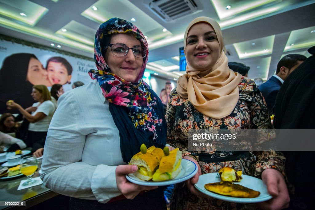 Muslim refugees living in Brazil participate in the special prayer during the Eid-Fitri celebrations in São Paulo. Muslims all over the world celebrated eid-fitri on Friday 15.